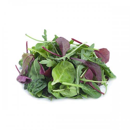 עלי בייבי ירק ופטריות